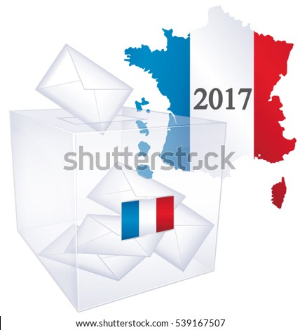 2017 French elections II. Political vector vote issue icon.