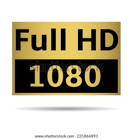 Golden Tv Format Labels Tv Hd Stock Vector 412891552