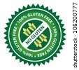 100% Gluten Free food label. - stock vector