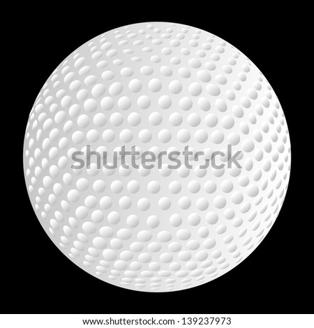 golf ball close-up vector art