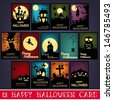13 Happy Halloween Cards - stock photo