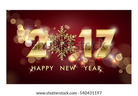 2017 Happy New Year background. Christmas And New Year background. Template Vector.