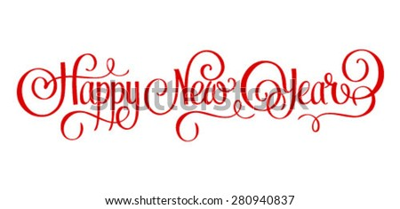 'Happy New Year' hand lettering