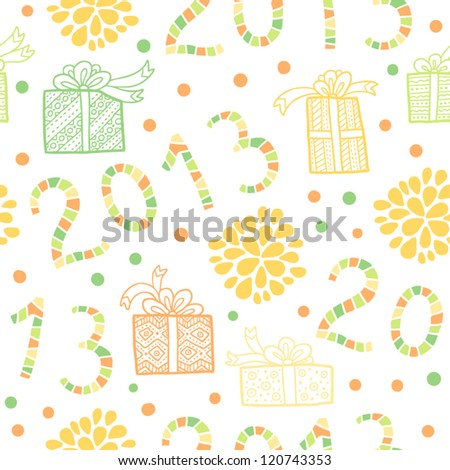 2013 Happy New Year! Seamless christmas pattern. Vector illustration