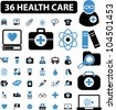36 health care & medicine icons set, vector - stock vector