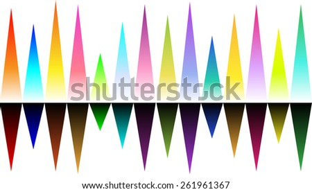 """High beats"" music inspired seamless pattern, background, wallpaper in rainbow colors. Can be used anyhow."