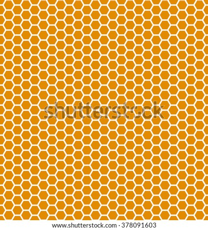 Honeycomb seamless pattern. Vector illustration. Eps 10