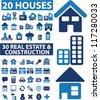 50 houses & real estate & construction icons set, vector - stock vector