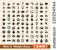 Icons for web and mobile elements collection - stock vector