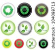 10 icons on the responsibility, vector image - stock vector