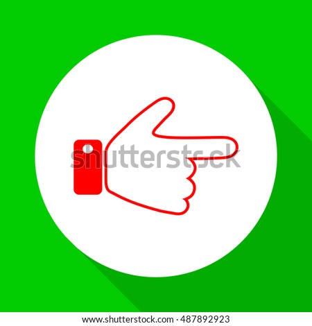Indicating the direction of the hand.Vector icon.