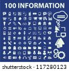 100 information & infographics icons set, vector - stock