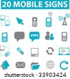 20 mobile signs. vector - stock vector