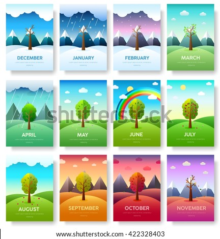 Infographic Ideas infographic year : 12 Months Year Weather Year Information Stock Vector 400816708 ...