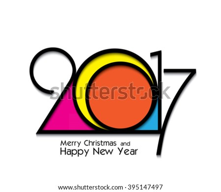 2017 new year creative design on white background for your greetings card, flyers, invitation, posters, brochure, banners, calendar