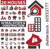 50 real estate & construction signs. vector - stock vector
