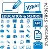 30 school & education signs. vector - stock photo