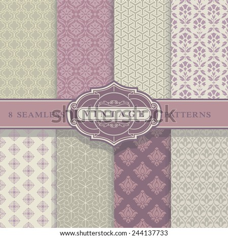 Seamless Patterns. Vintage Set. Texture for wallpaper, background, scrapbook -  lots of useful elements to embellish your layout.