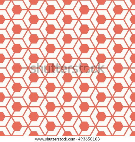 seamless vector pattern of hexagonal grid.