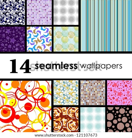 14 seamless wallpaper. Golden collections.