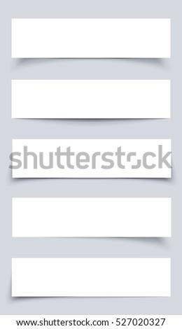 Header Blank Web Banner Shadow Template Stock Vector 147941843 ...