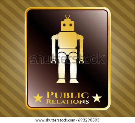 stock-vector--shiny-emblem-with-robot-ic