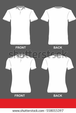 Simple tshirt collar design color grey stock vector for Collar shirt design template