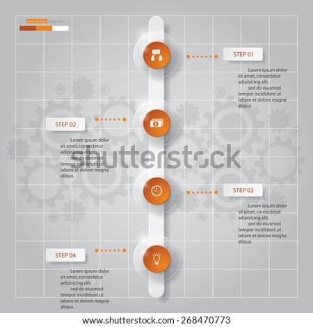 Timeline Chart Infographic Template Options Stock Vector - Timeline website template