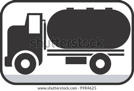 symbol of truck carrying fuel