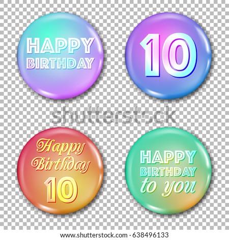 Happy 10th wedding anniversary icons