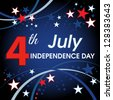 4th July American Independence Day design. - stock photo