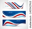 4th july  independence day three header set Vector illustration - stock vector