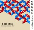 4th of July Happy Independence Day abstract background. - stock vector