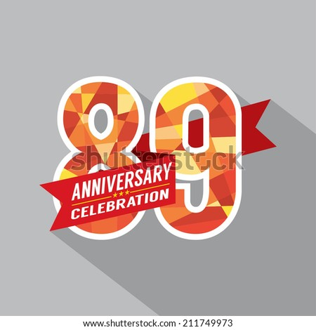 80th Years Anniversary Celebration Design Stock Vector ...