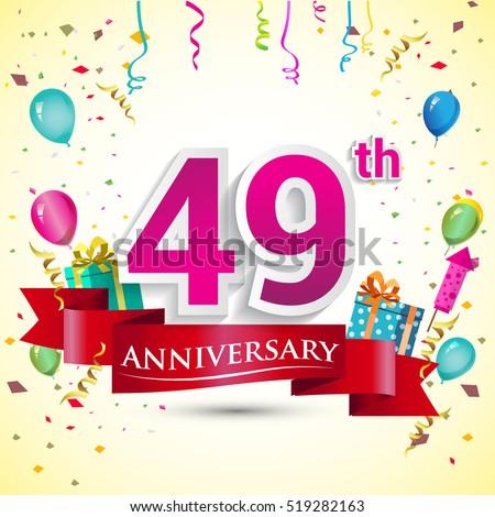 43rd Years Anniversary Celebration Design Gift Stock Vector 519282070