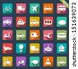 Transport icons  - stock