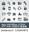 20 Universal icon set for website,vector - stock vector