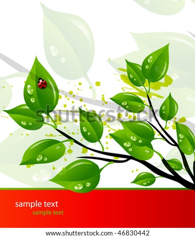 Vector template of a green branch