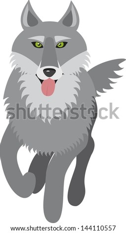 wolf, vector illustration on white background