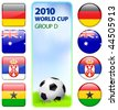 2010 World Cup Group D Original Vector Illustration - stock vector
