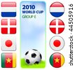 2010 World Cup Group E Original Vector Illustration - stock vector
