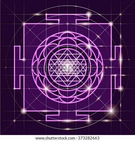 Yantra - cosmic conductor of energy. Yantra Sree . Sacred Geometry