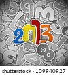 2013 year from a paper. Eps 10 - stock vector