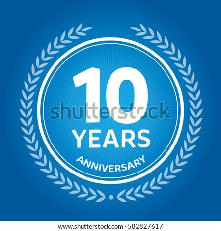 10th Anniversary Logo Design Template Stock Vector