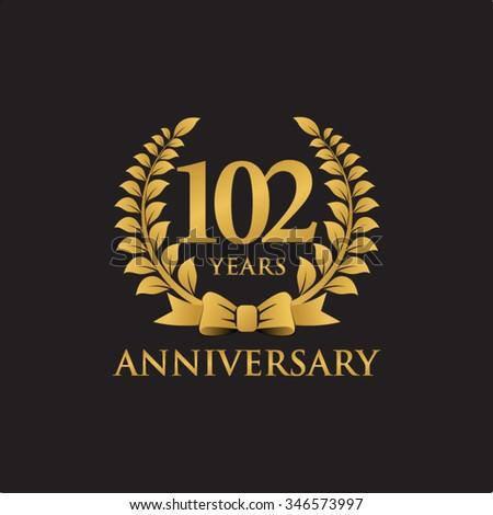 103 years anniversary wreath ribbon logo stock vector 346574054 shutterstock