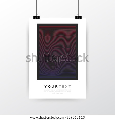 A4 A3 Format Poster Minimal Abstract Stock Vector 223645705