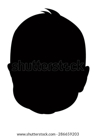 a baby silhouette vector