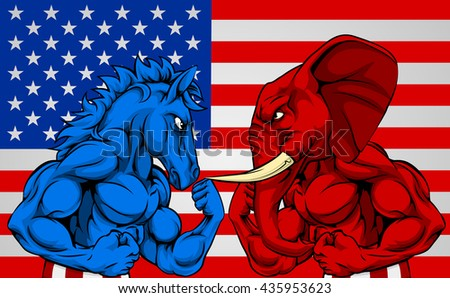 red elephant vs blue donkey u s Political neckties for democrats elephant and donkey boxing necktie republican elephant soapbox necktie ma 304 red or navy.