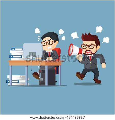 Employee Hard Work Lazy Employee Stock Vector 454495972 - Shutterstock