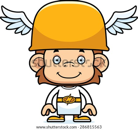 Cartoon Hermes Chimpanzee Smiling Stock Vector 286662998 ...